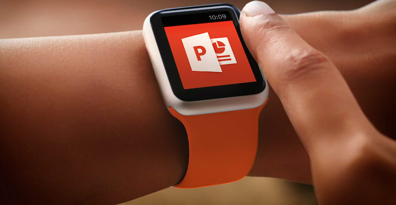 how to control powerpoint with apple watch