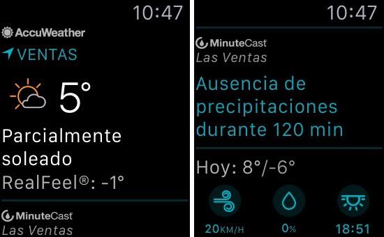 Las 5 mejores aplicaciones del tiempo para apple watch for Aplicacion del clima
