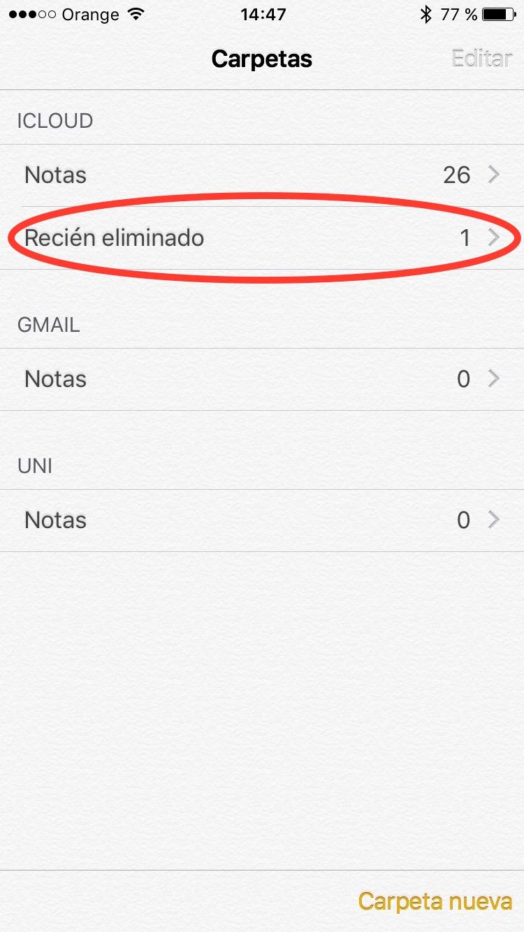 notas iphone recuperar